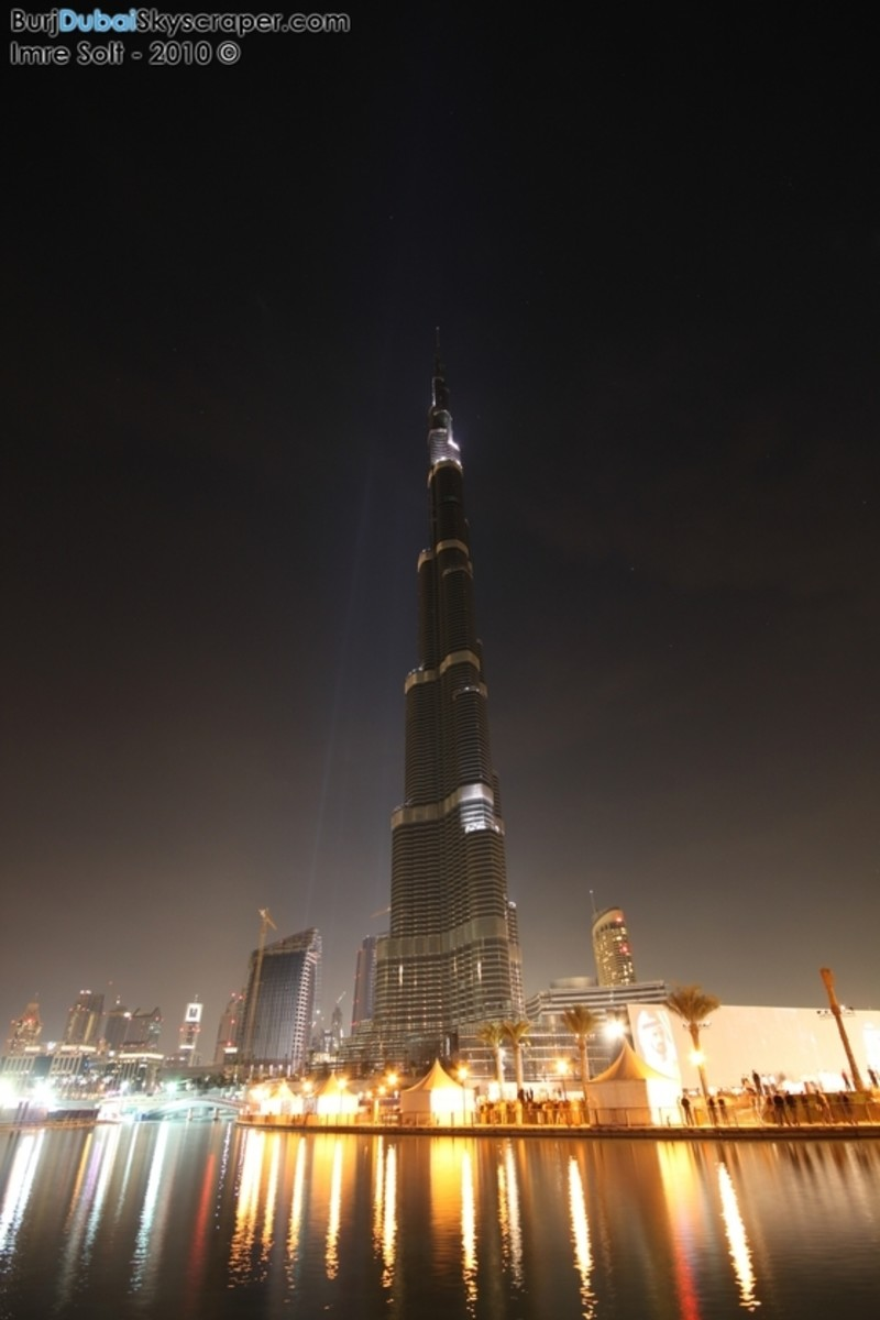 Burj Khalifa Lights Picture