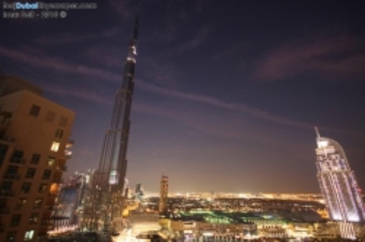 Twilight View From Burj Khalifa