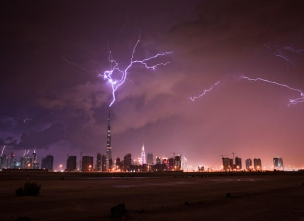Burj Khalifa Lightning Photo