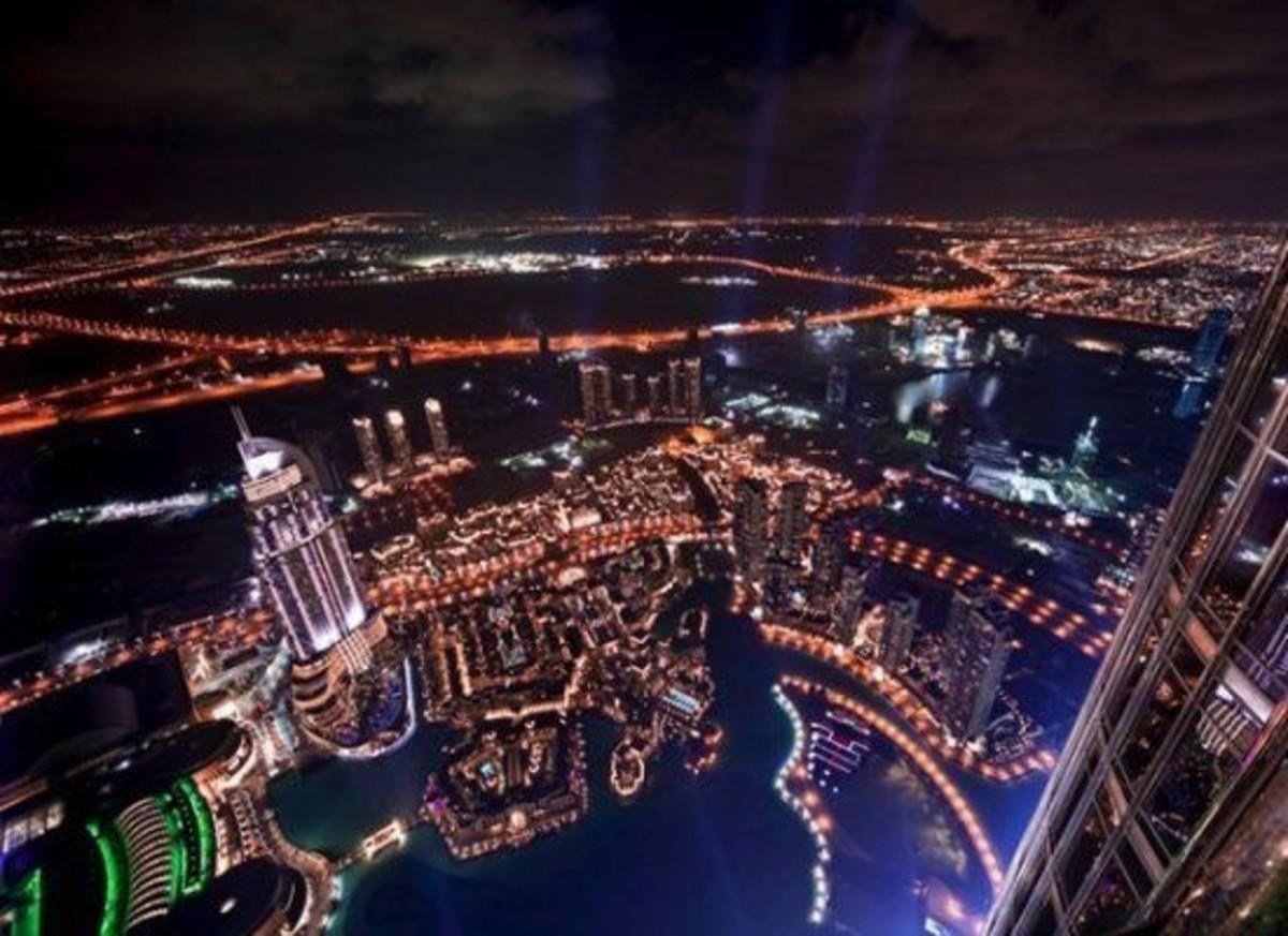 Night View from Top of Burj Khalifa