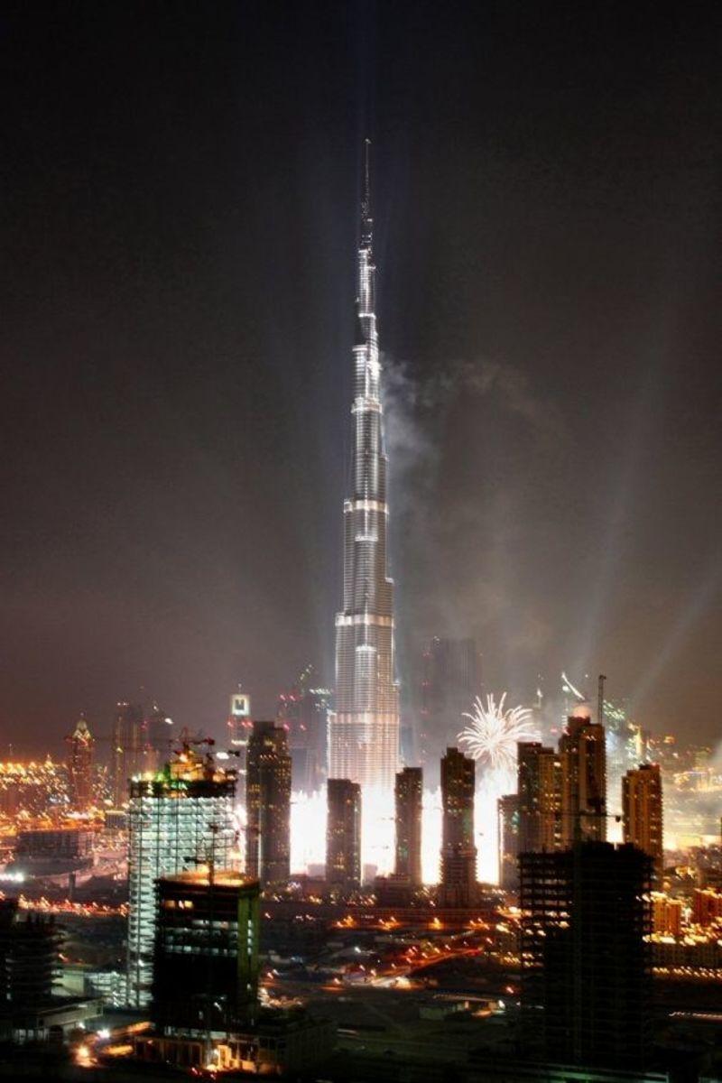 Burj Khalifa Lights Photo