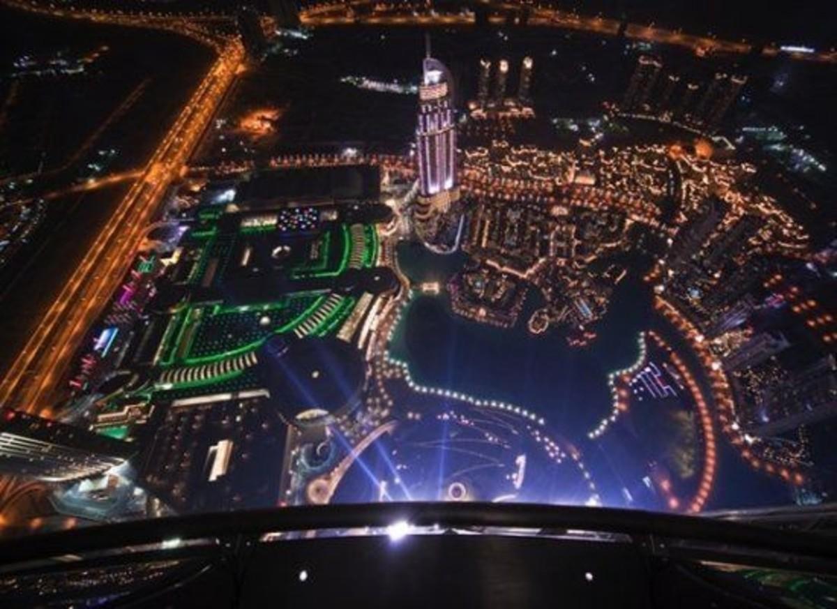 Burj Khalifa Sight from top at night