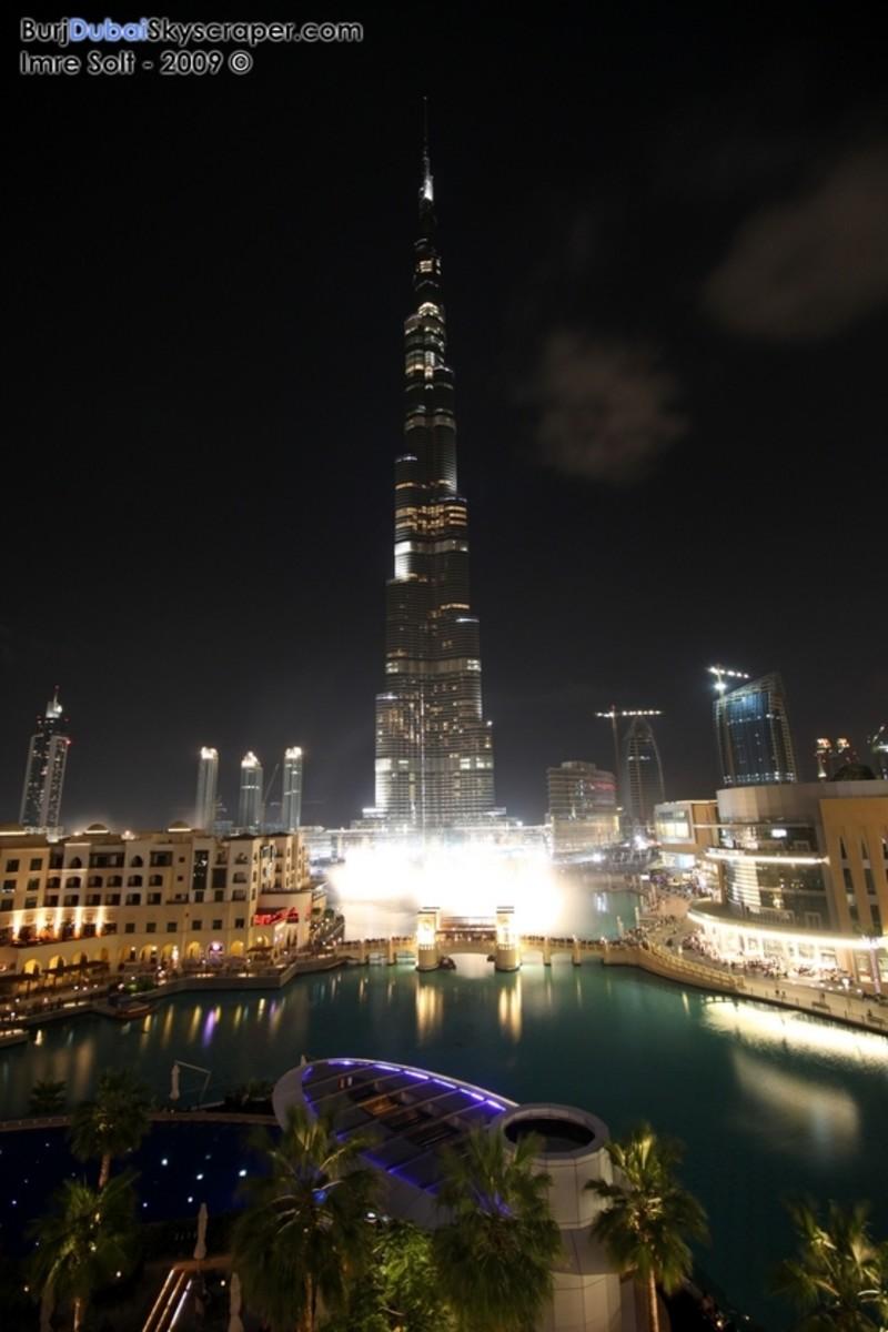 Burj Khalifa Night Photo