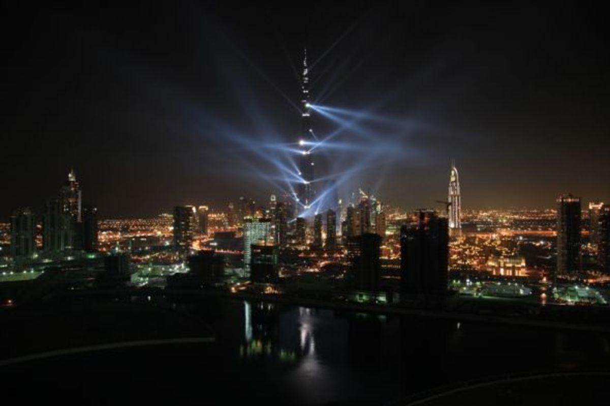 Burj Khalifa Night Lights