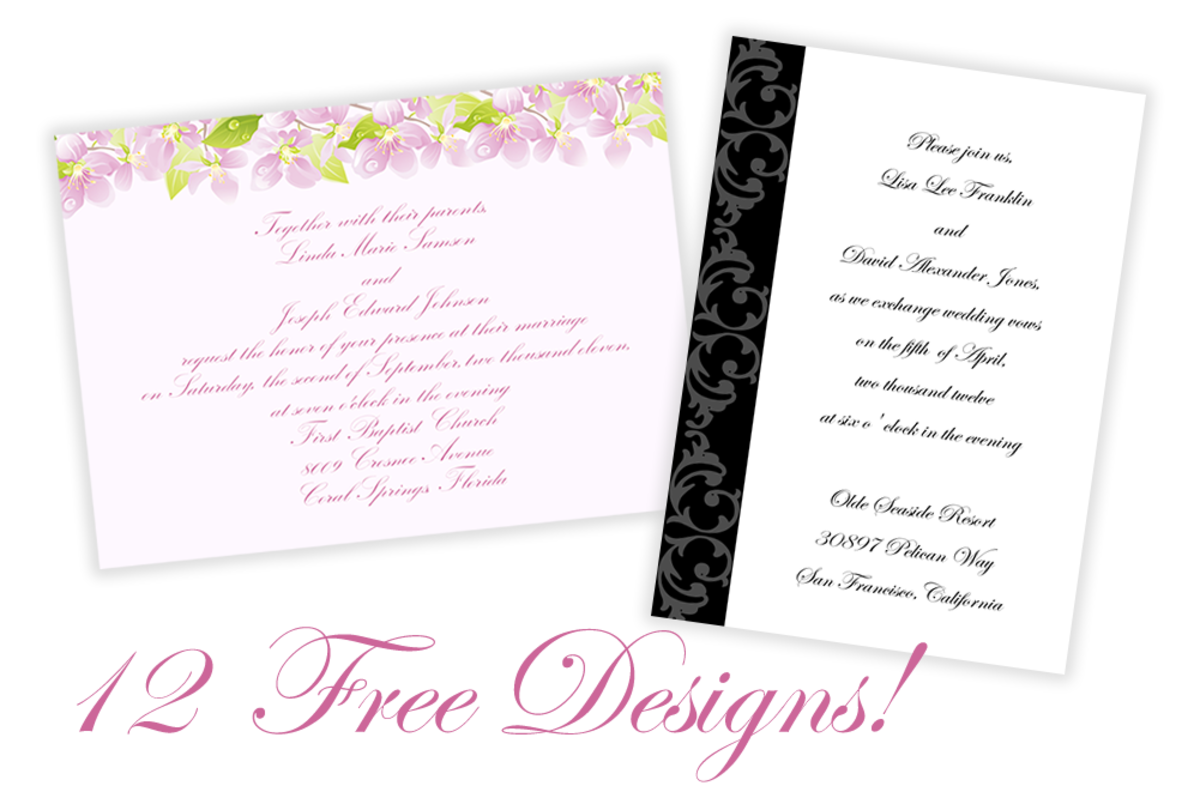 free printable wedding and commitment ceremony invitations hubpages
