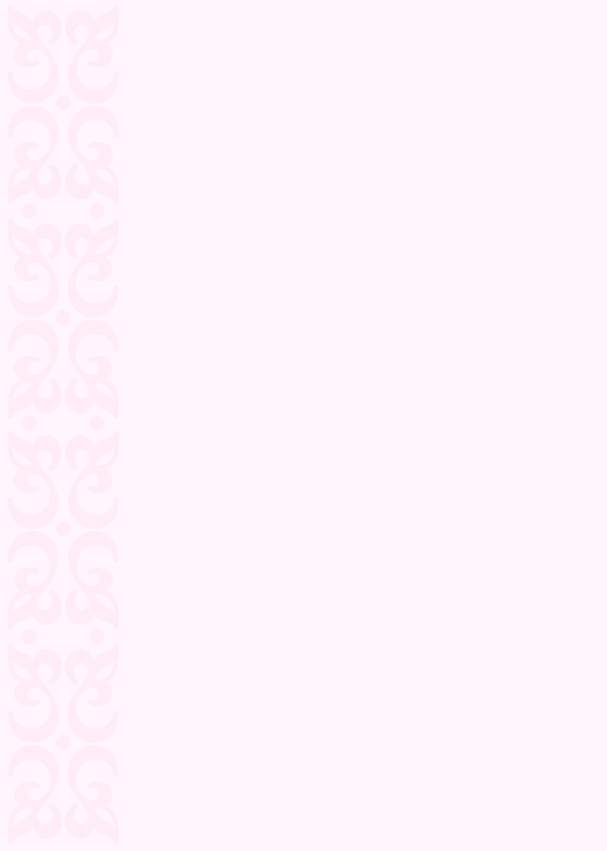 Pastel pink on pink scroll work wedding invitation template (A4 or A7)