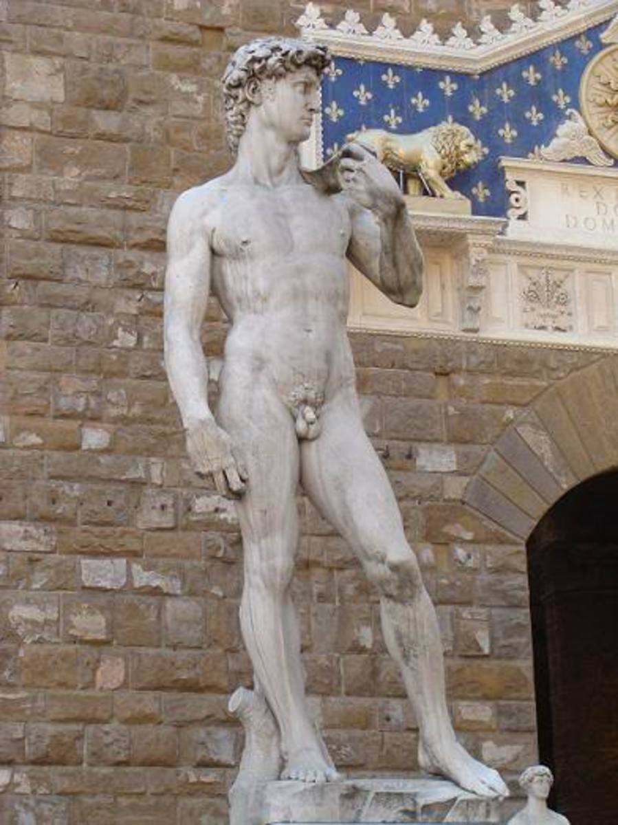 "Michelangelo saw a block of stone. He said, ""I see David inside of you."""