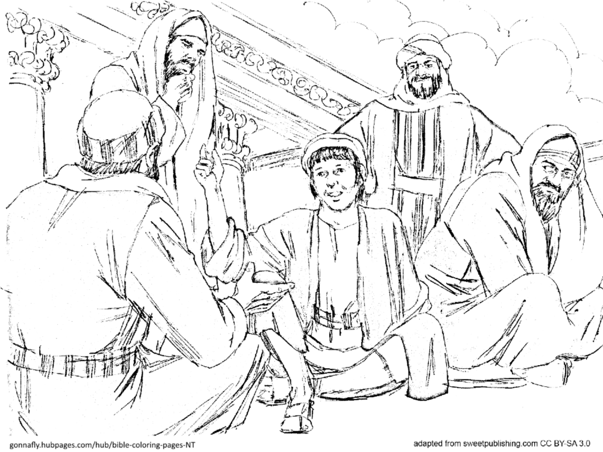 Jesus As A Boy At The Temple