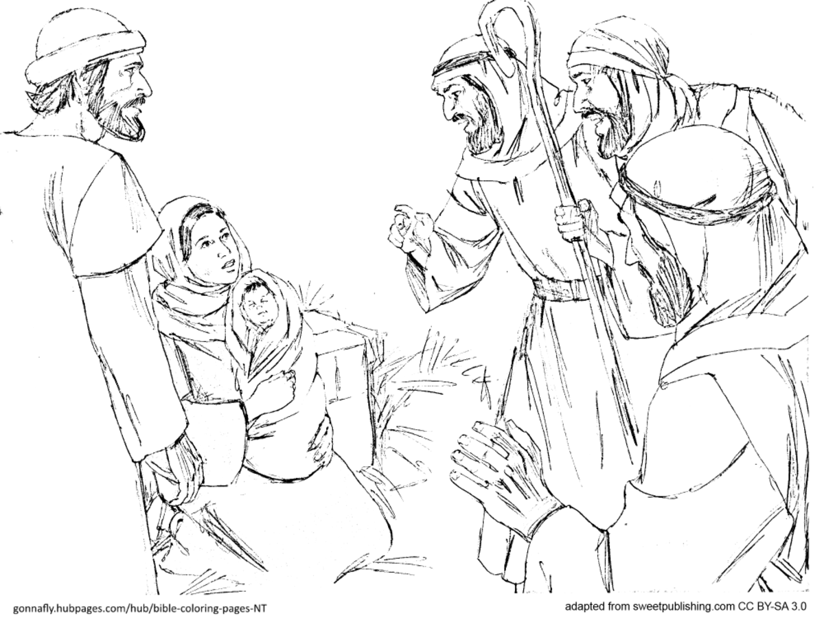 shepherds at Jesus' birth