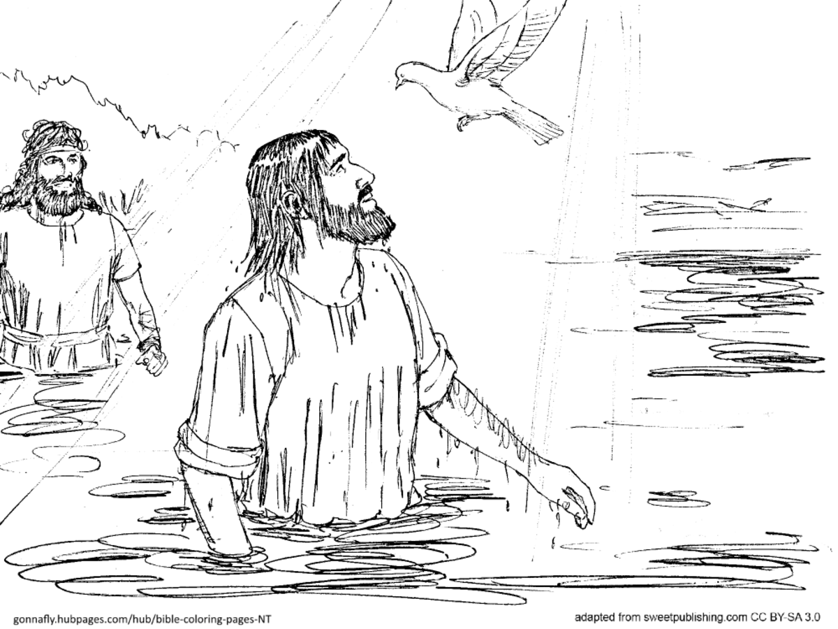 Baptism Of Christ Coloring Page  Printable Coloring Pages