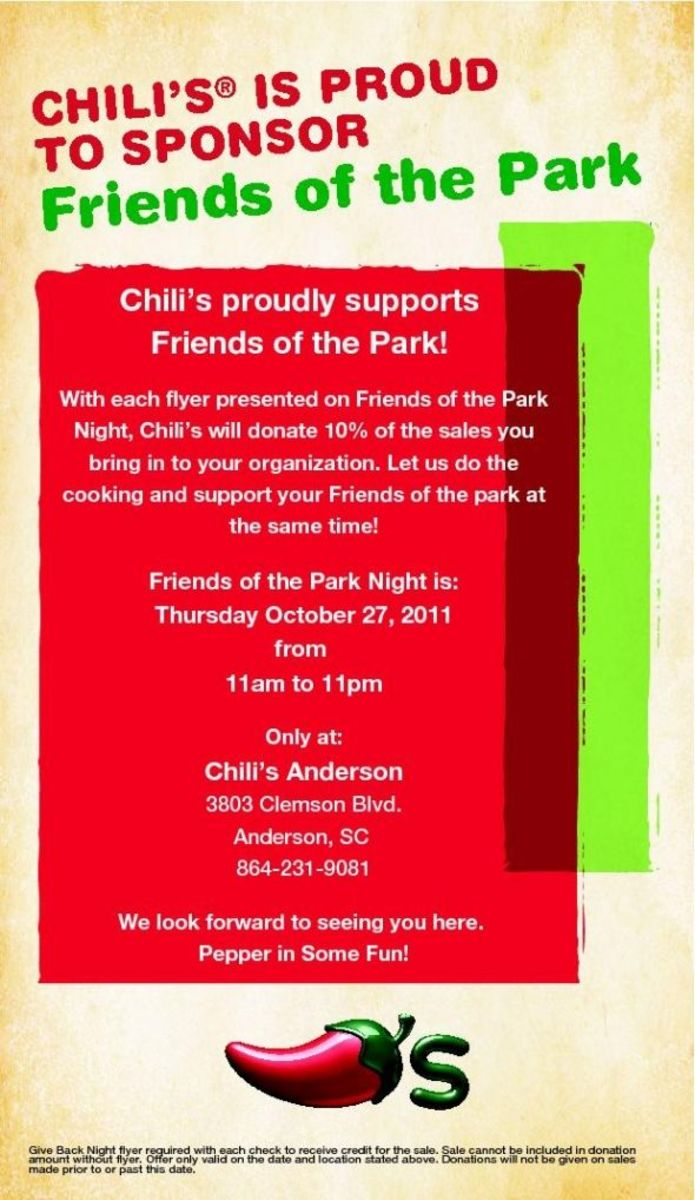 Eat at Chili's for Veterans Park