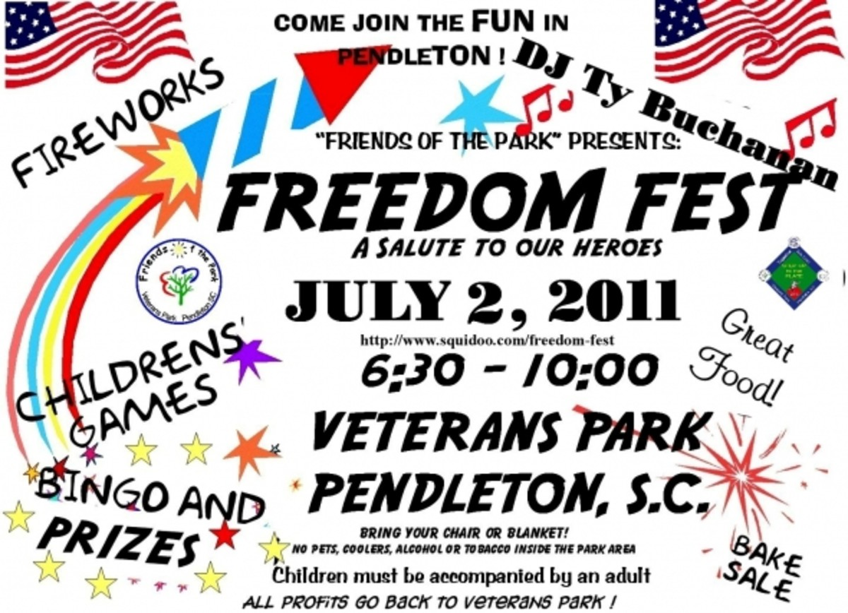 FREEDOM FEST 2011 This is the 21st Freedom Fest at Veterans Park in Pendleton and we hope everyone in our community is making plans to join us. Get involved - We need volunteers!