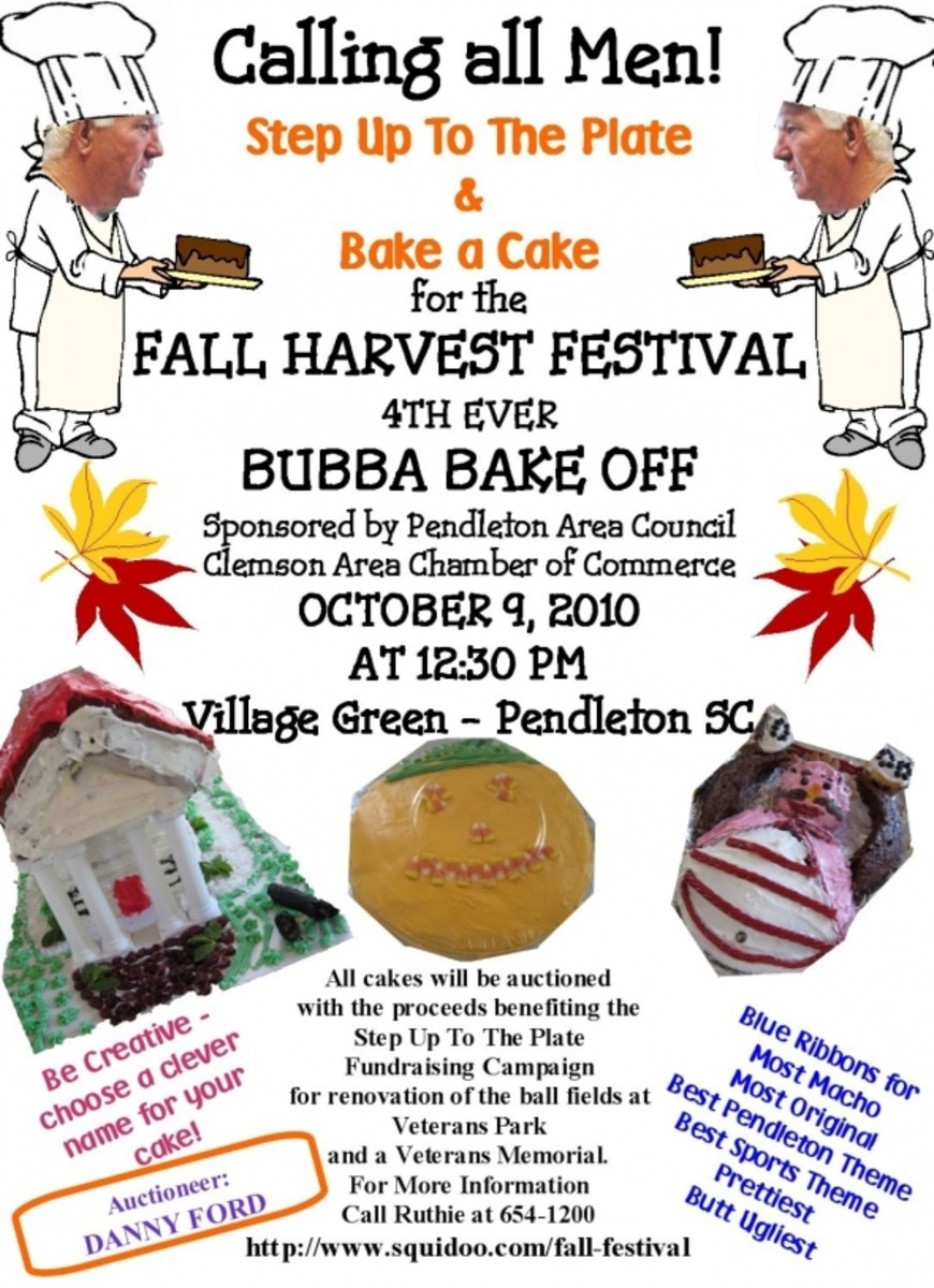 Bubba Bake Off at Pendleton SC's Fall Harvest Festival