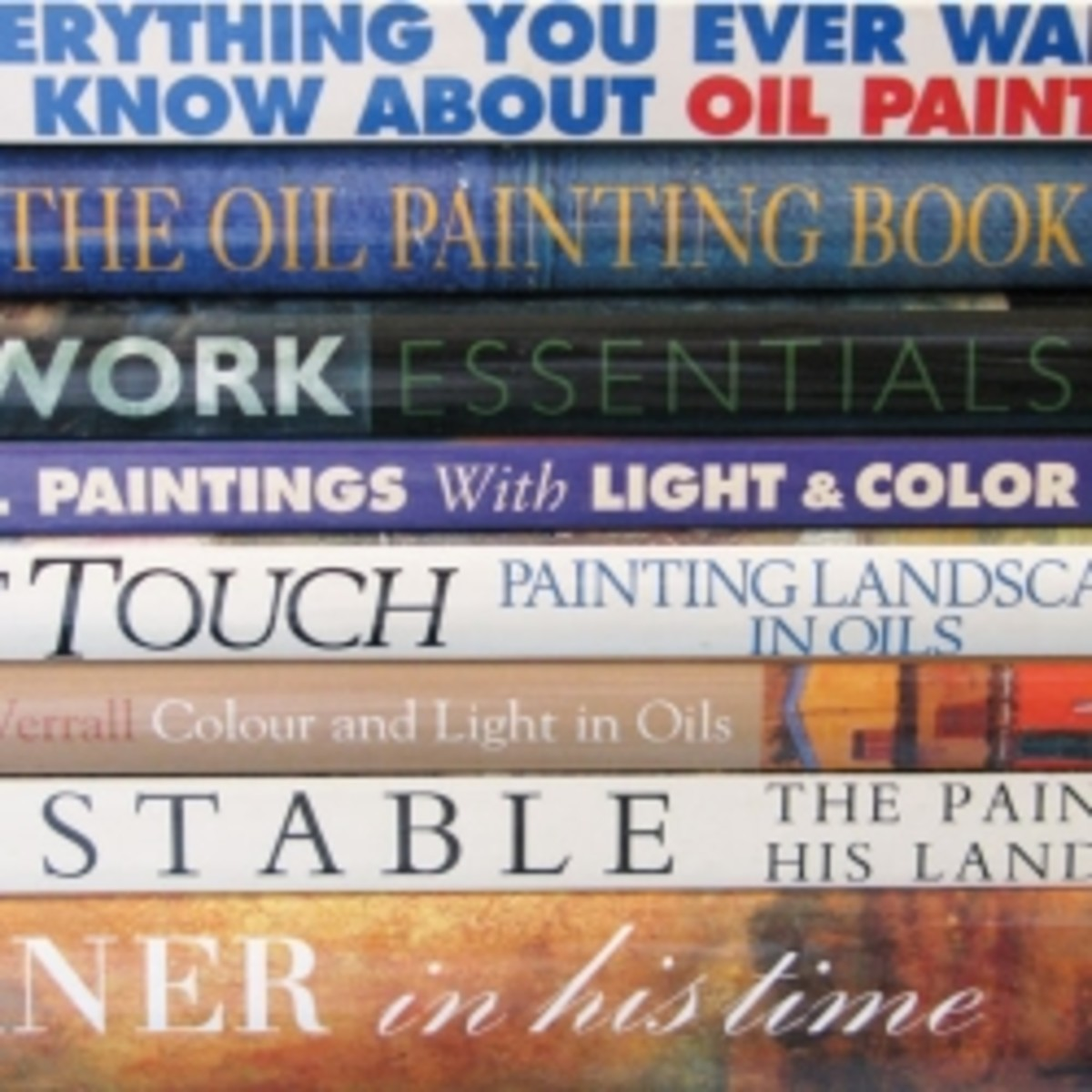 some of my books about oil painting