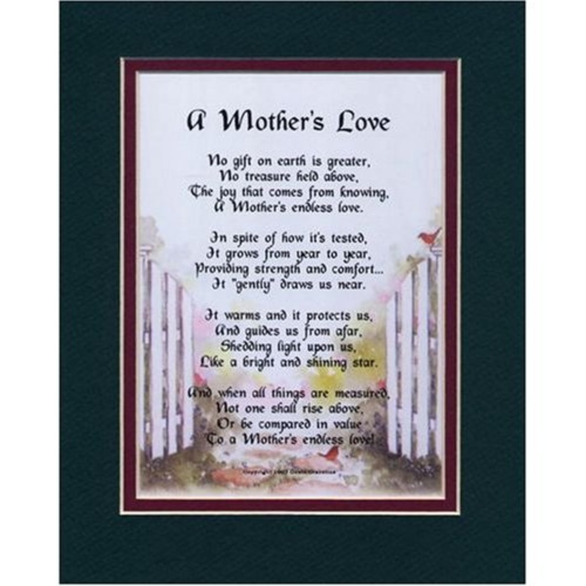 """A Mother's Love"" poem"