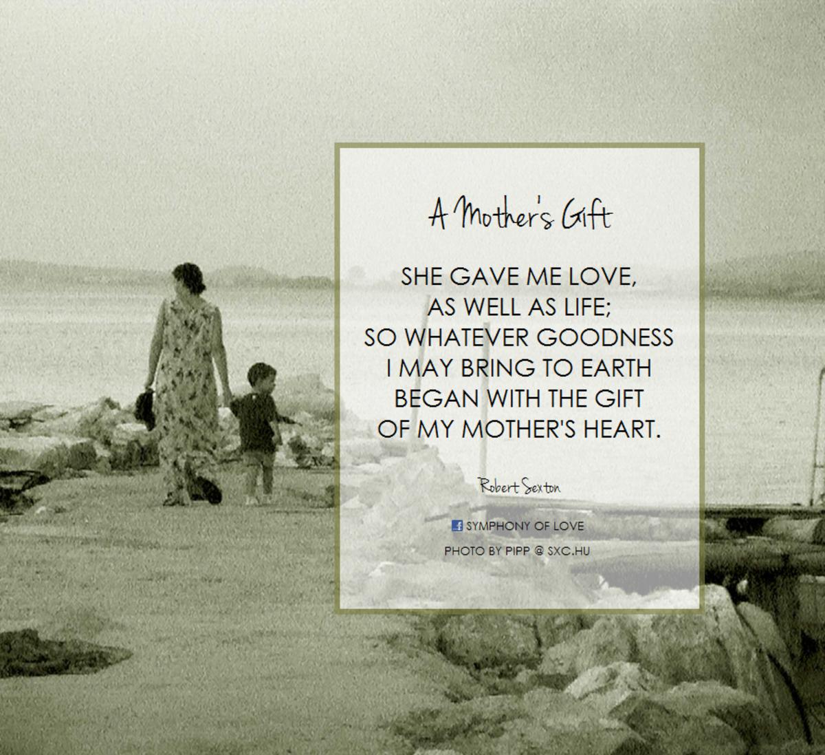 A Mother's Gift (short poem)