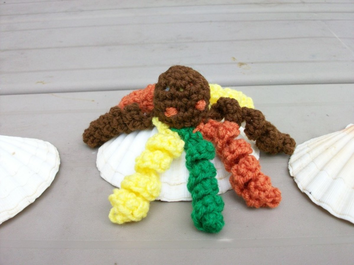 For Thanksgiving, Create your Octopus in Harvest colors of Brown, Yellow, Green and Orange!