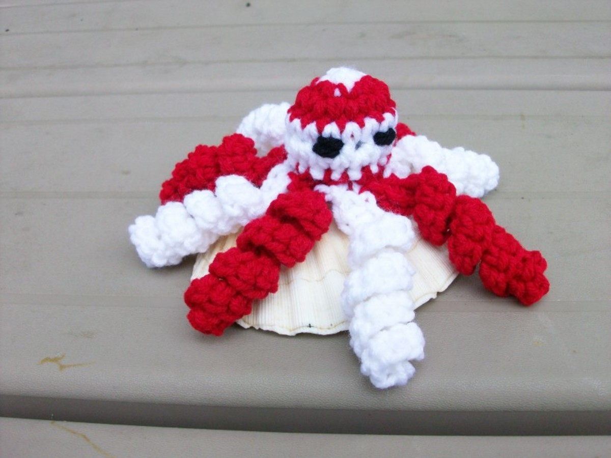 Candy Cane Octopus
