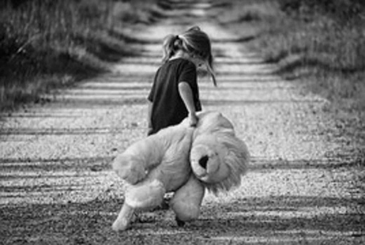 Carrying along a bear friend.