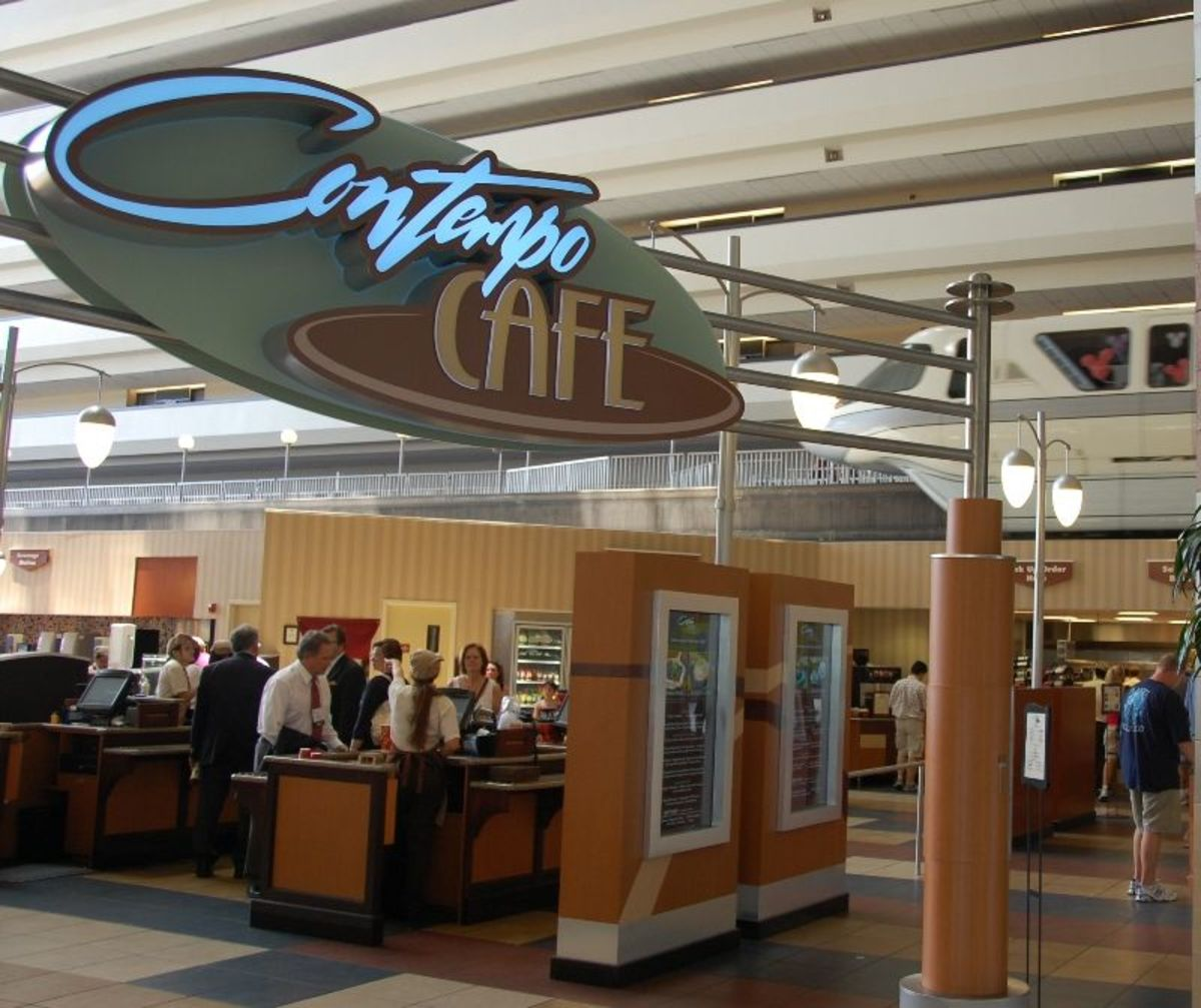 Contempo Cafe and Monorail at Disney's Contemporary Resort