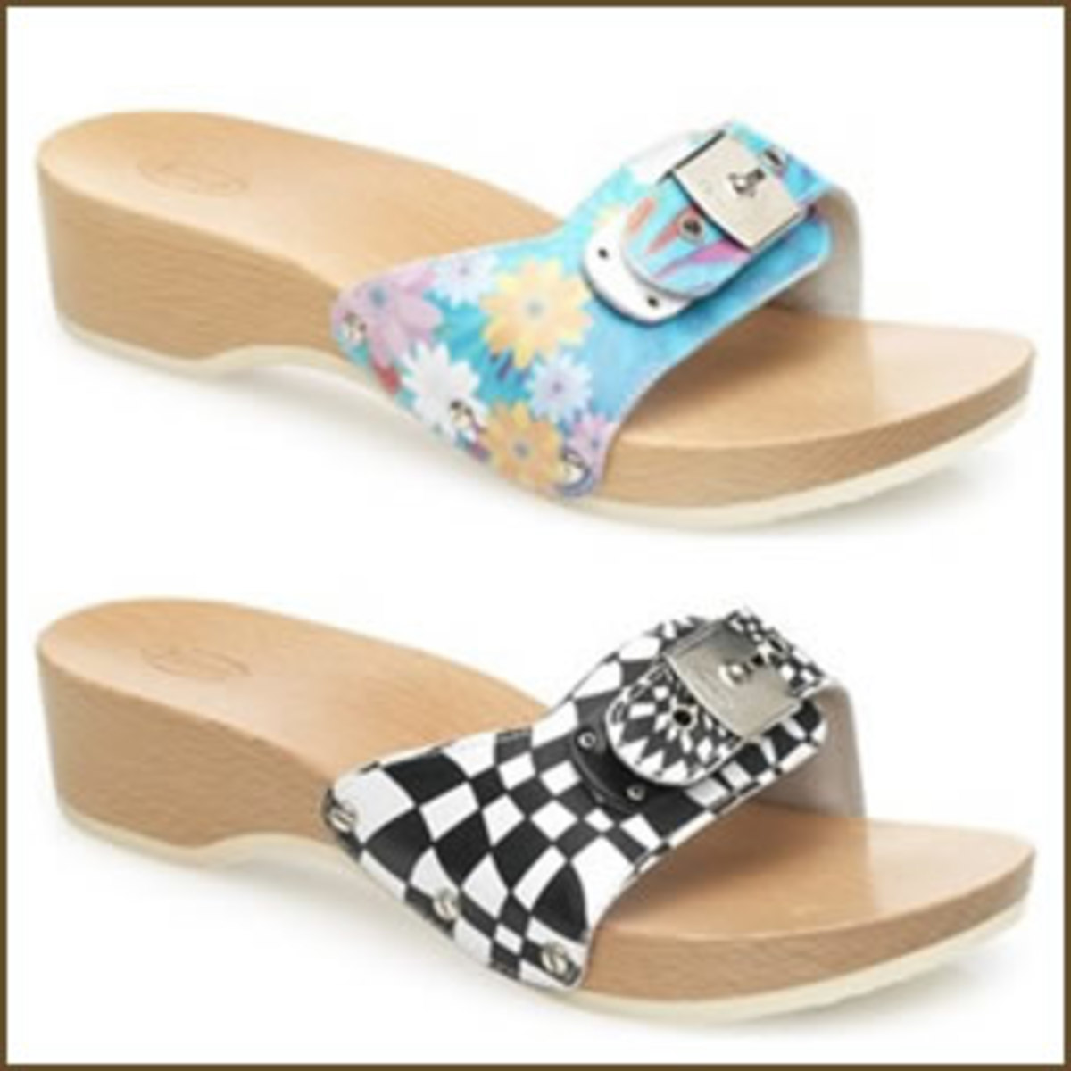 Scholl sandals - The original exercise sandal with a wooden sole