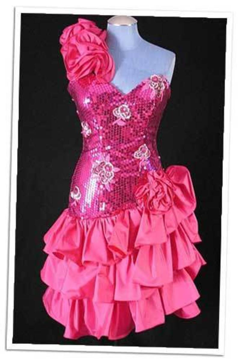 80s Prom Dress Leather