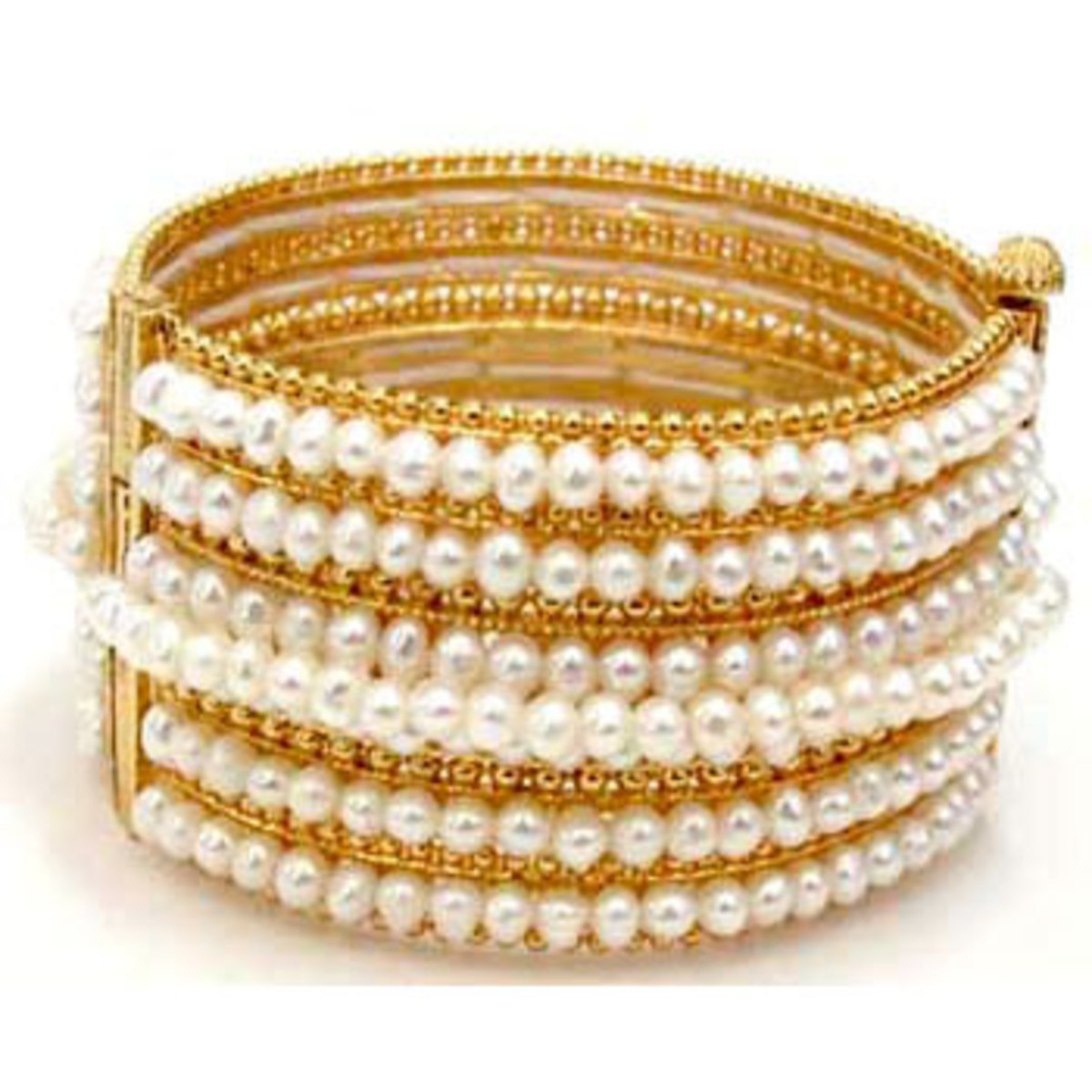 Pearl and Gold Bangles