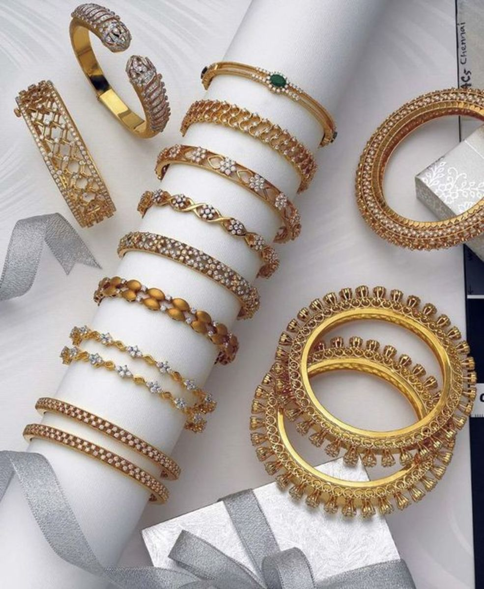 different types of gold churi or bangle design to choose from