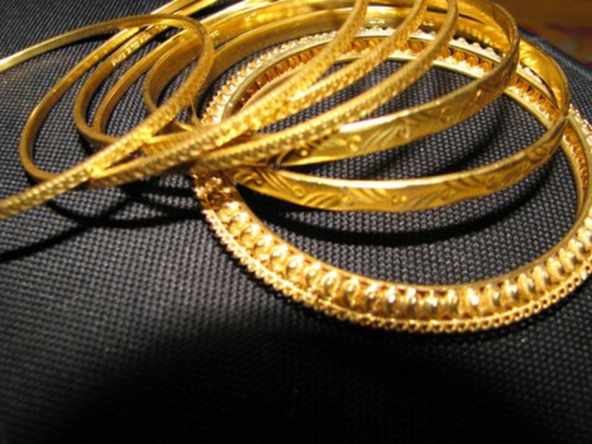 Gold Bangles (gold churi)