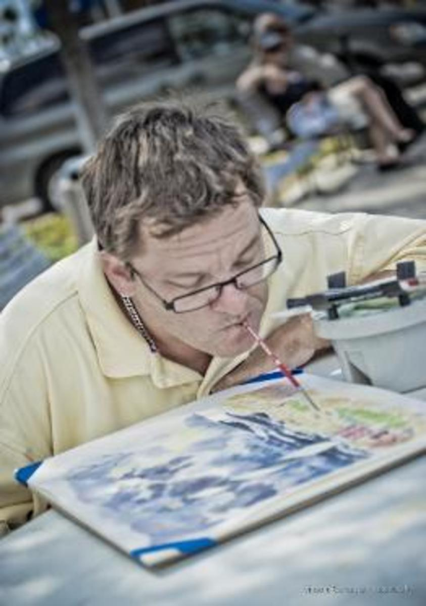 Christopher Kuster at work