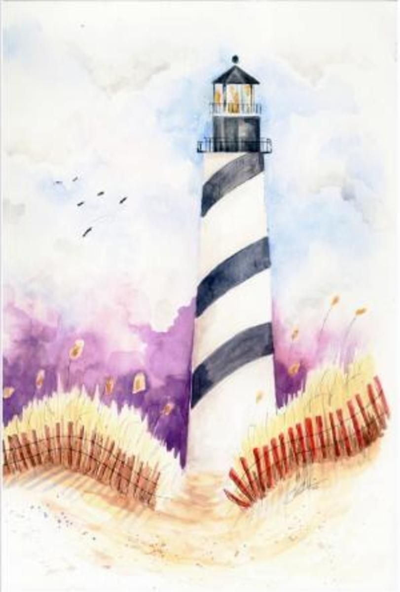 Christopher Kuster's Lighthouse painted with his teeth