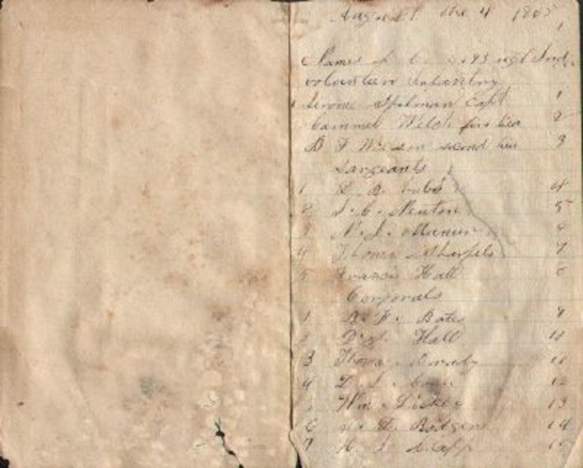 My ancestor's pocket diary.