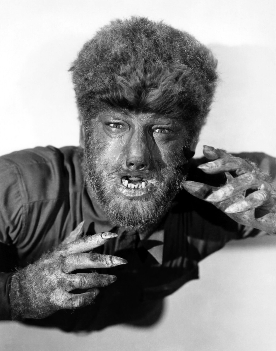 Lon Chaney Jr as the classic Universal Films Wolfman