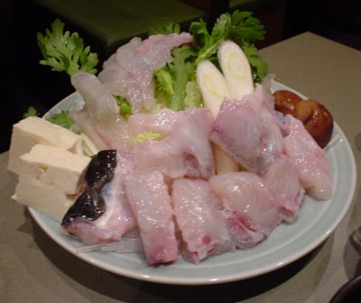FUGU SASHIMI (Photo courtesy of http://www.diseno-art.com/)