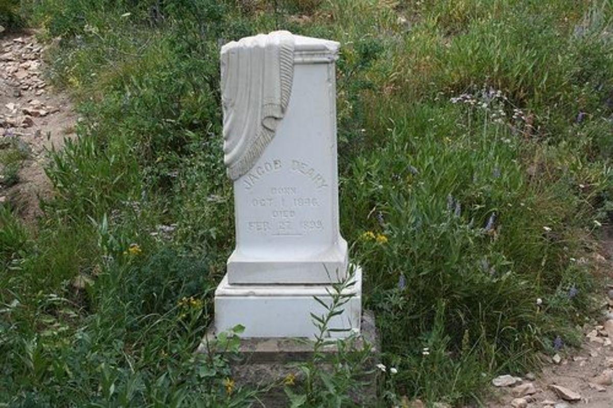 Jacob Deary Headstone Silver City cemetery in Idaho