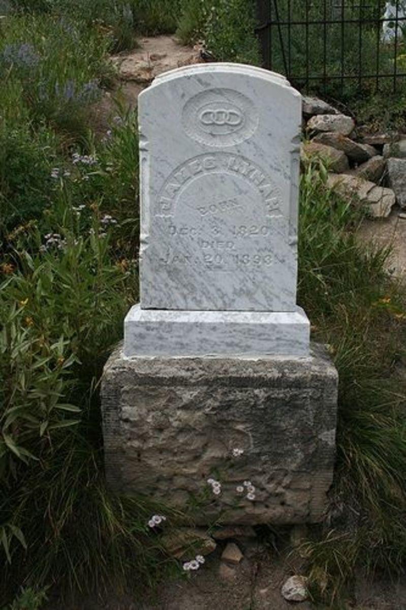 James Lyman Headstone Silver City cemetery in Idaho