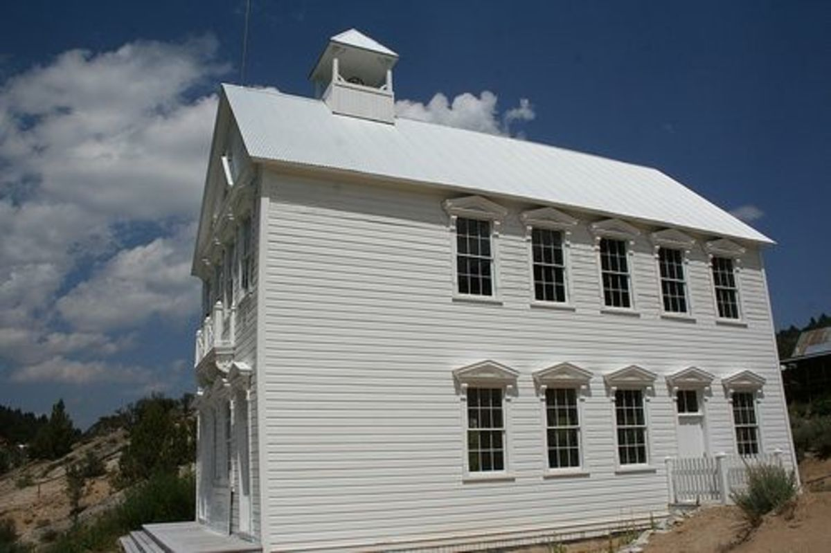 The old Silver City Schoolhouse, side view