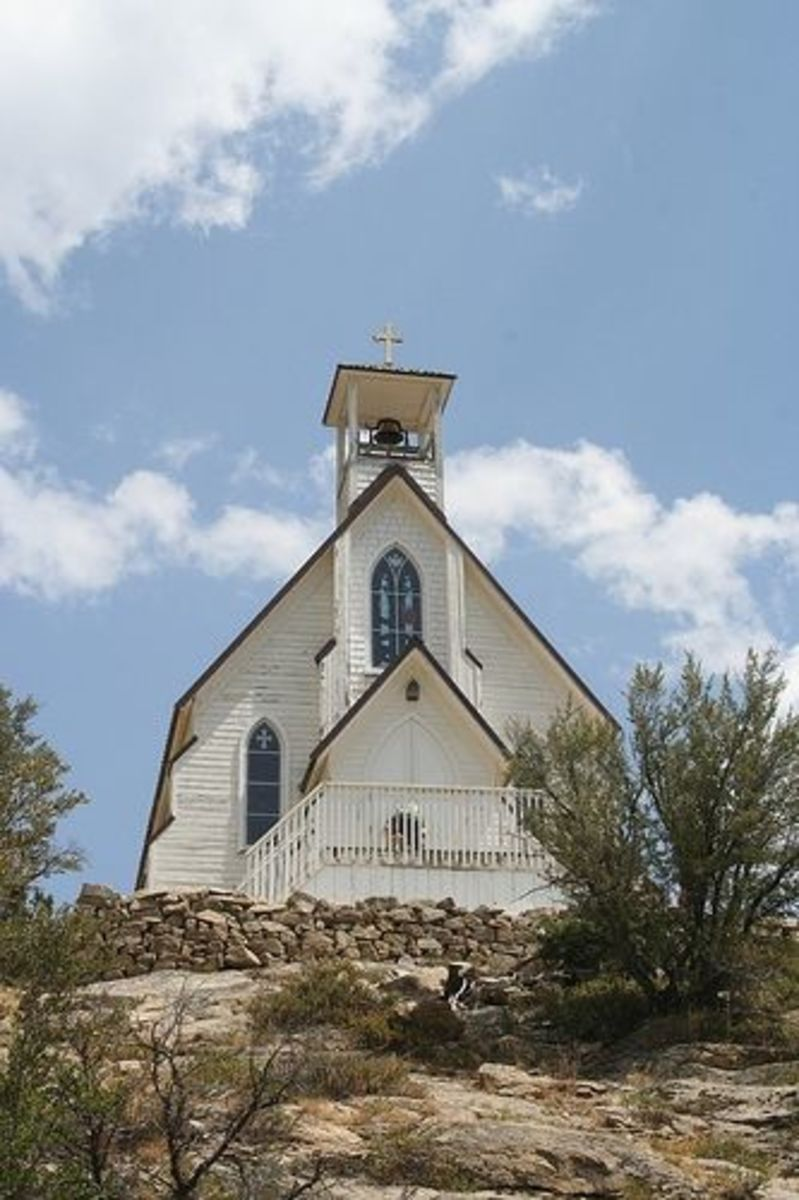 walk to church was quite steep for the townspeople of Silver City
