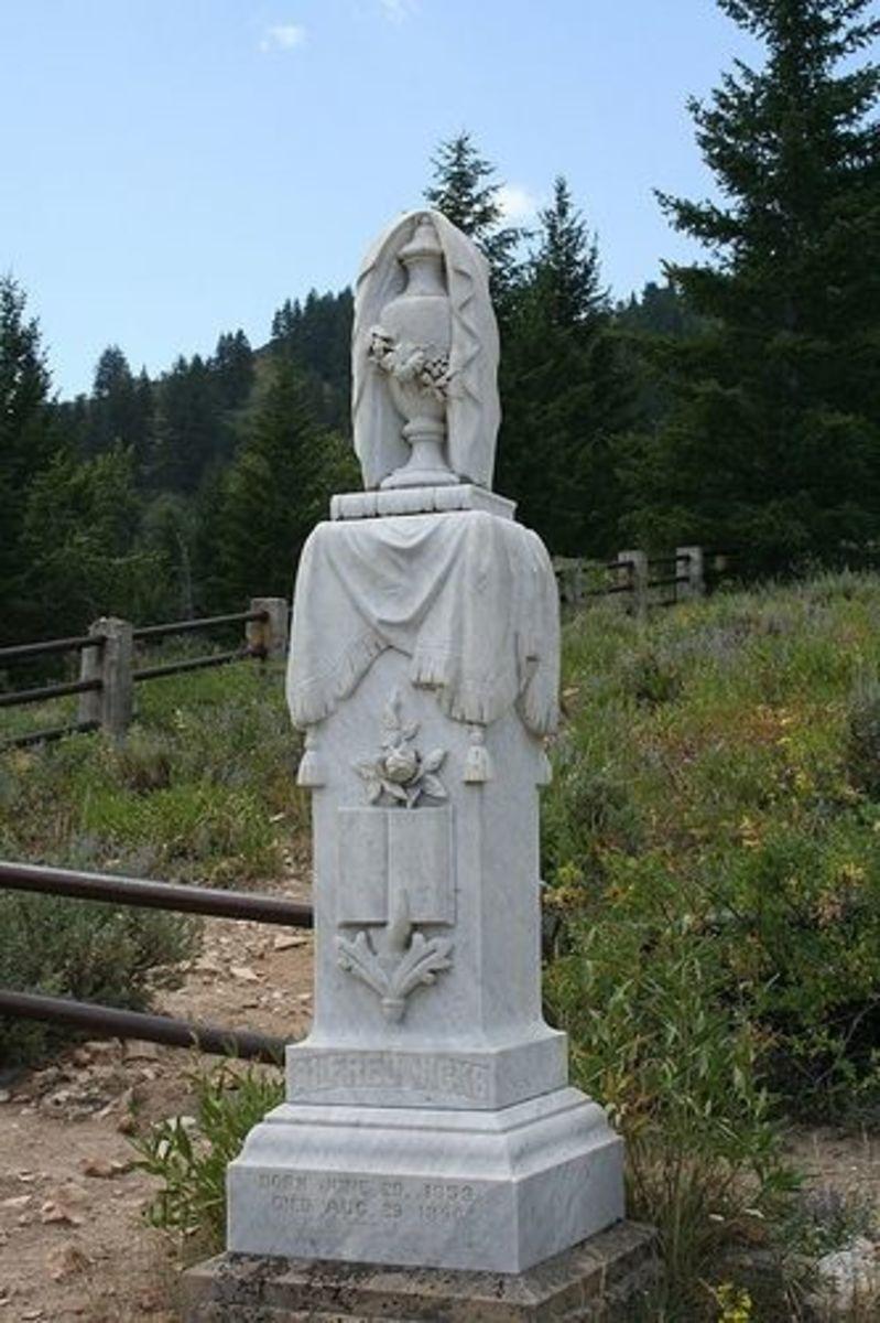 Alfred Hicks headstone, Born June 29th, 1853