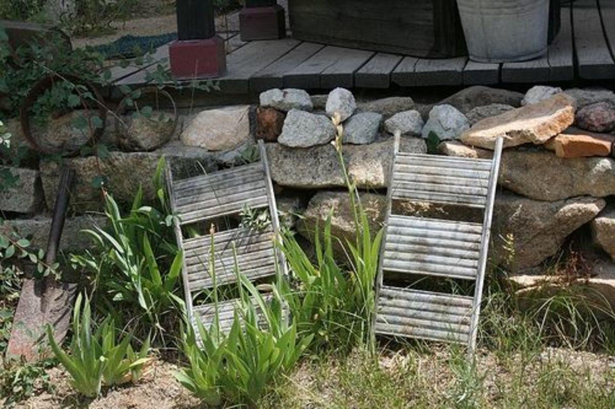 Old antique wash boards in Silver City, Idaho