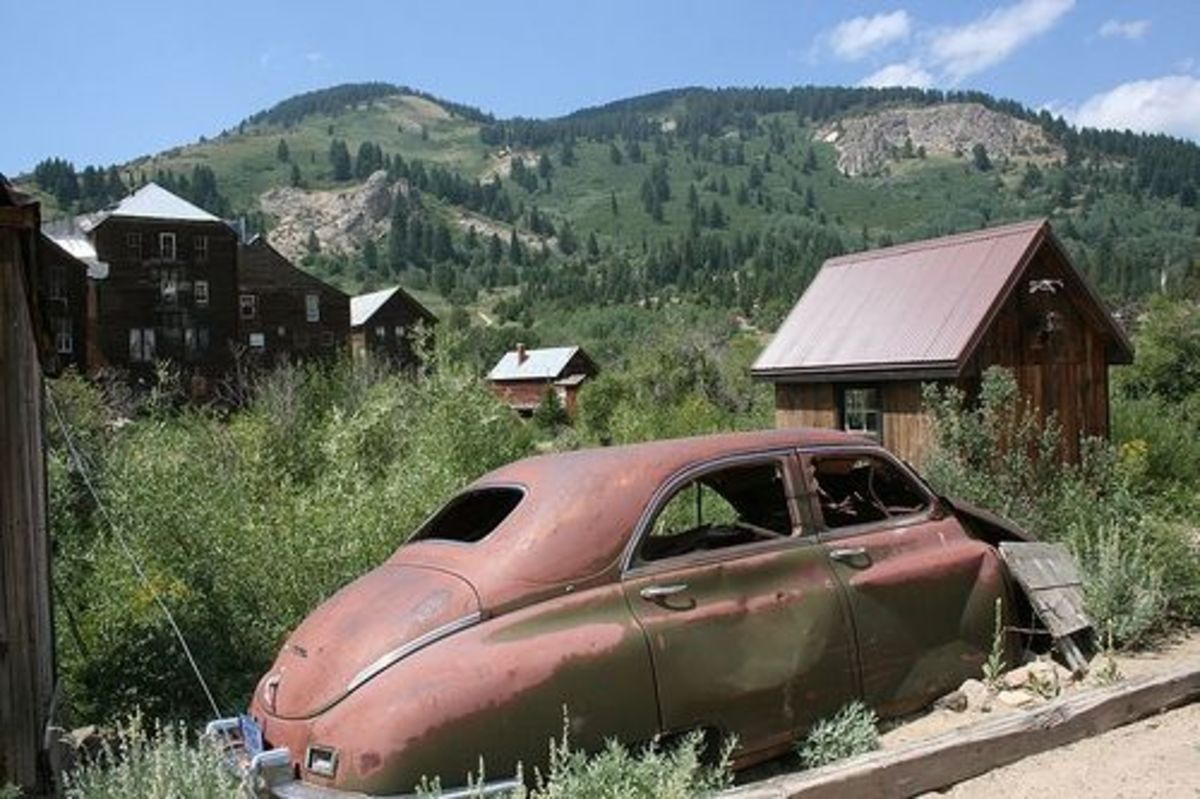 Old Vintage Car in Silver City, Idaho