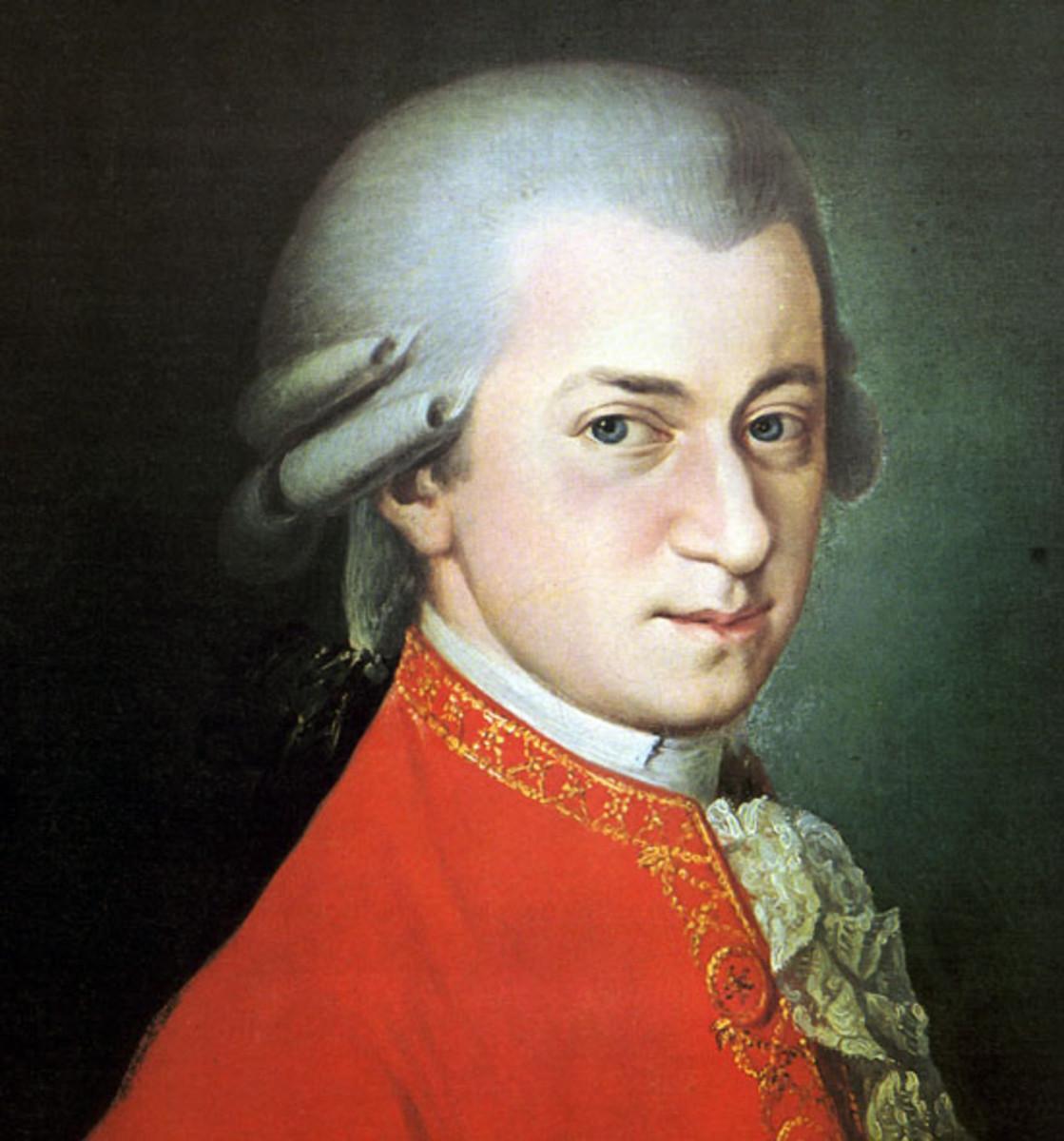 Mozart, posthumous portrait by Barbara Krafft, 1819.