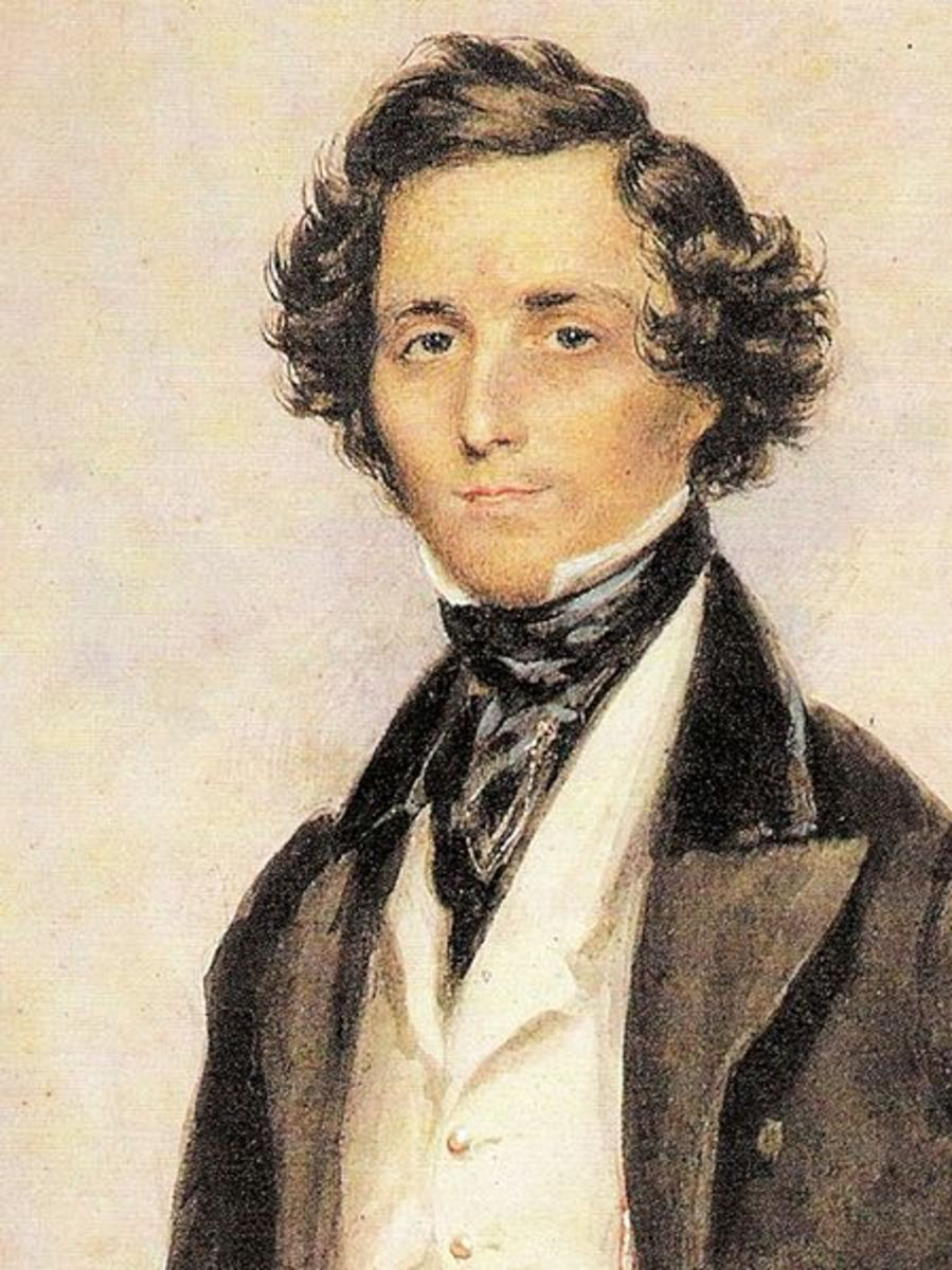 Felix Mendelssohn at age 30. Watercolor by James Warren Childe, 1839.