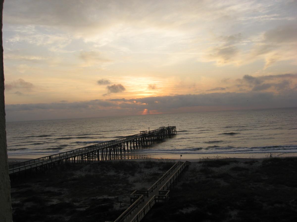The pier at dawn.