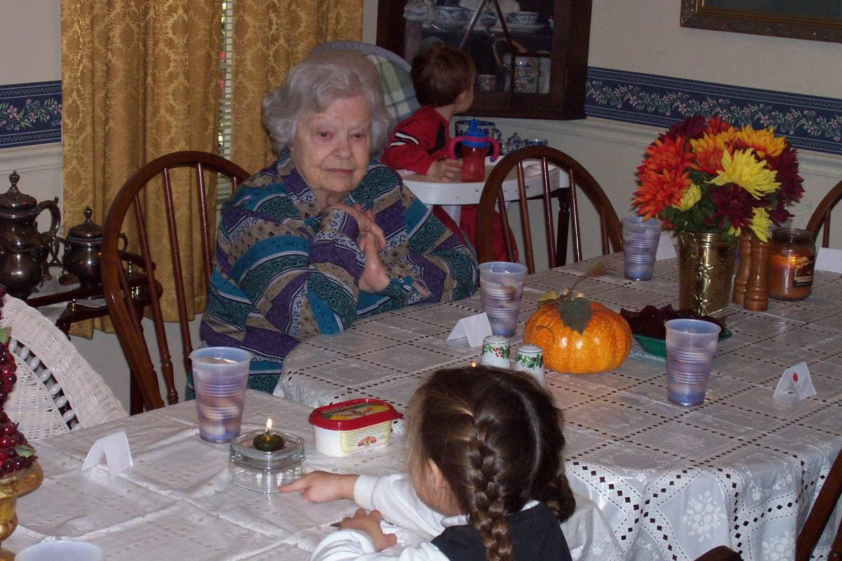Mom's last Thanksgiving.