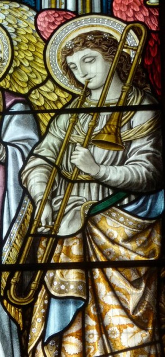 Angel Trombonists Throughout History: 70 Images