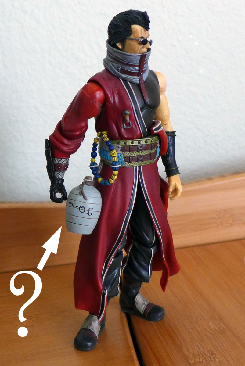"Nope, it's not sake. See ""Spiran Inscriptions"" to find out what's in Auron's jug."
