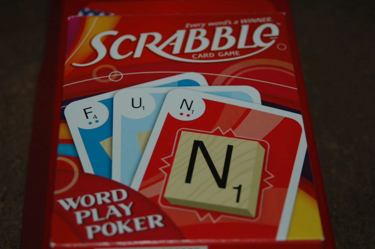 Card Games For The Whole Family Scrabble Word Play Poker A Card
