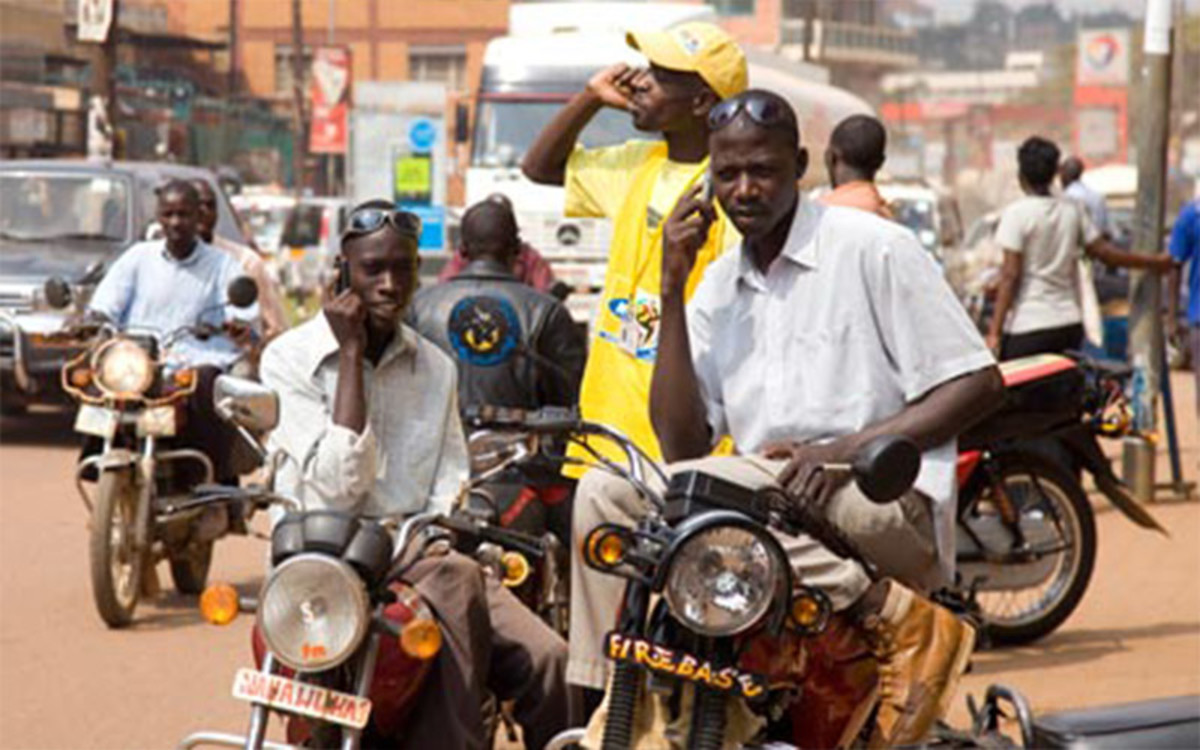 Mobile phones in uganda's Capital, Kampala: 10 million people across the country own a phone