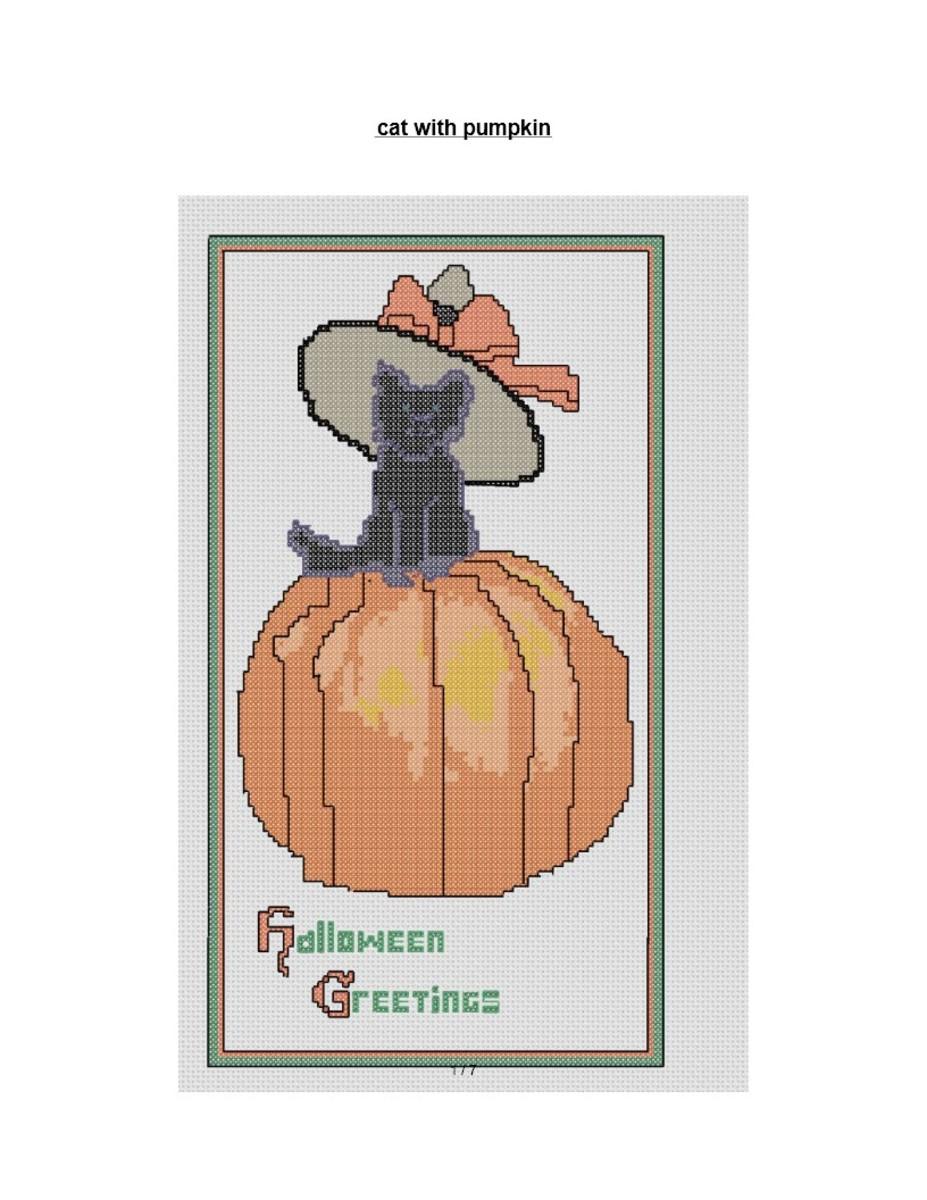 halloween-medium-cross-stitch-pattern-black-cat-on-pumpkin